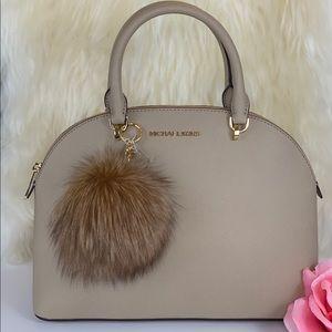 Michael Kors Emmy LG Dome Satchel Bag & Charm